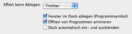 dock_einstellung