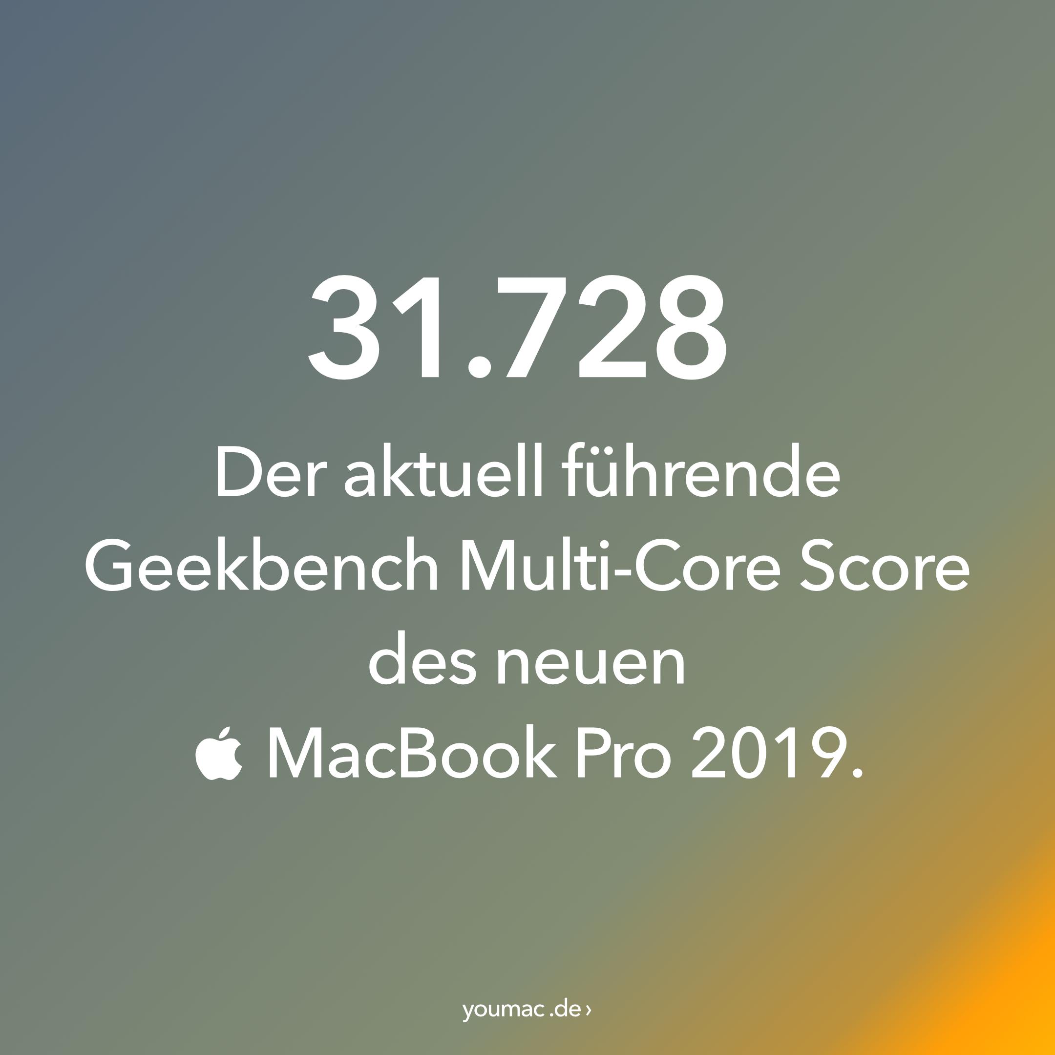 Die ersten MacBook Pro 2019 Benchmarks